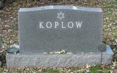 KOPLOW, FAMILY MARKER - Minnehaha County, South Dakota | FAMILY MARKER KOPLOW - South Dakota Gravestone Photos