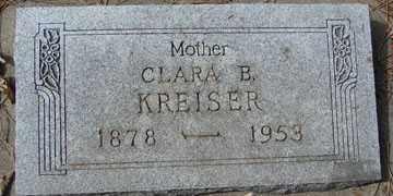 KREISER, CLARA B. - Minnehaha County, South Dakota | CLARA B. KREISER - South Dakota Gravestone Photos