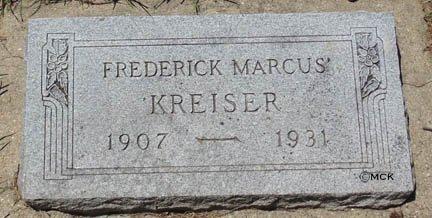 KREISER, FREDERICK MARCUS - Minnehaha County, South Dakota   FREDERICK MARCUS KREISER - South Dakota Gravestone Photos