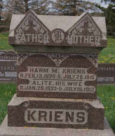 KRIENS, HARM M - Minnehaha County, South Dakota | HARM M KRIENS - South Dakota Gravestone Photos