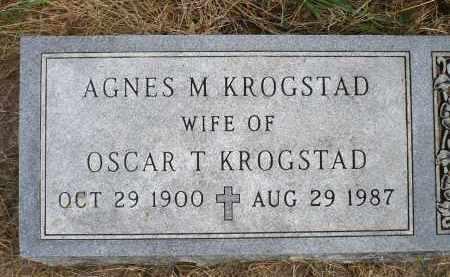 KROGSTAD, AGNES M. - Minnehaha County, South Dakota | AGNES M. KROGSTAD - South Dakota Gravestone Photos