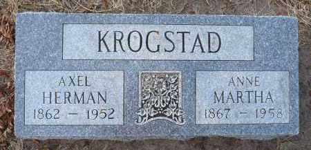 KROGSTAD, AXEL HERMAN - Minnehaha County, South Dakota | AXEL HERMAN KROGSTAD - South Dakota Gravestone Photos