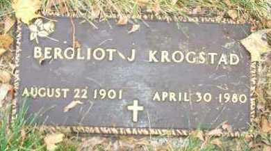 KROGSTAD, BERGLIOT J. - Minnehaha County, South Dakota   BERGLIOT J. KROGSTAD - South Dakota Gravestone Photos