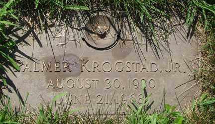 KROGSTAD, PALMER JR. - Minnehaha County, South Dakota   PALMER JR. KROGSTAD - South Dakota Gravestone Photos