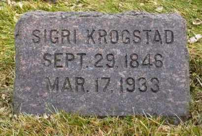 KROGSTAD, SIGRI - Minnehaha County, South Dakota   SIGRI KROGSTAD - South Dakota Gravestone Photos