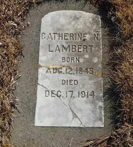 LAMBERT, CATHERINE N. - Minnehaha County, South Dakota | CATHERINE N. LAMBERT - South Dakota Gravestone Photos