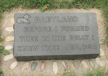 *LAND, BABY - Minnehaha County, South Dakota   BABY *LAND - South Dakota Gravestone Photos