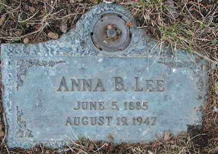 LEE, ANNA B. - Minnehaha County, South Dakota | ANNA B. LEE - South Dakota Gravestone Photos