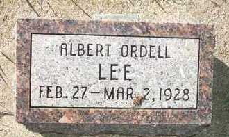 LEE, ALBERT ORDELL - Minnehaha County, South Dakota | ALBERT ORDELL LEE - South Dakota Gravestone Photos