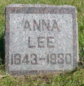 LEE, ANNA - Minnehaha County, South Dakota | ANNA LEE - South Dakota Gravestone Photos