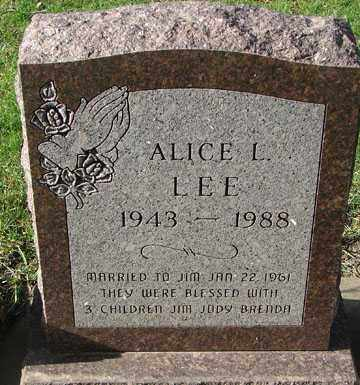 LEE, ALICE L. - Minnehaha County, South Dakota   ALICE L. LEE - South Dakota Gravestone Photos