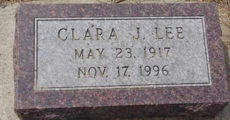 LEE, CLARA J. - Minnehaha County, South Dakota | CLARA J. LEE - South Dakota Gravestone Photos