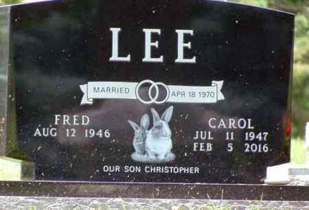 LEE, FRED - Minnehaha County, South Dakota | FRED LEE - South Dakota Gravestone Photos