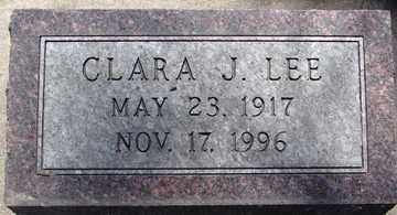 LEE, CLARA J. - Minnehaha County, South Dakota | CLARA J. LEE - South Dakota Gravestone Photos