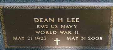 LEE, DEAN H. (WWII) - Minnehaha County, South Dakota | DEAN H. (WWII) LEE - South Dakota Gravestone Photos