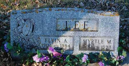 LEE, ELVIN A. - Minnehaha County, South Dakota | ELVIN A. LEE - South Dakota Gravestone Photos