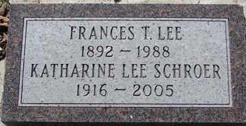 LEE, FRANCES - Minnehaha County, South Dakota   FRANCES LEE - South Dakota Gravestone Photos