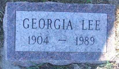 LEE, GEORGIA - Minnehaha County, South Dakota | GEORGIA LEE - South Dakota Gravestone Photos