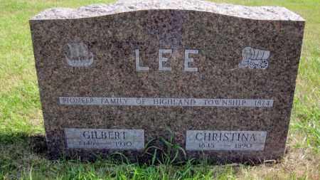 LEE, GILBERT - Minnehaha County, South Dakota | GILBERT LEE - South Dakota Gravestone Photos