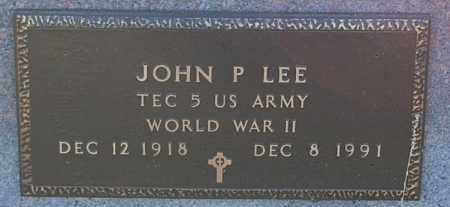 LEE, JOHN P. (WW II) - Minnehaha County, South Dakota | JOHN P. (WW II) LEE - South Dakota Gravestone Photos