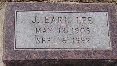 LEE, J. EARL - Minnehaha County, South Dakota | J. EARL LEE - South Dakota Gravestone Photos