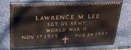 LEE, LAWRENCE M. - Minnehaha County, South Dakota | LAWRENCE M. LEE - South Dakota Gravestone Photos