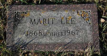 LEE, MARIT - Minnehaha County, South Dakota | MARIT LEE - South Dakota Gravestone Photos