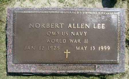 LEE, NORBERT ALLEN (WWII) - Minnehaha County, South Dakota | NORBERT ALLEN (WWII) LEE - South Dakota Gravestone Photos