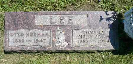 LEE, TOMENA MARY ANNE - Minnehaha County, South Dakota | TOMENA MARY ANNE LEE - South Dakota Gravestone Photos