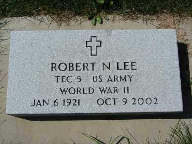 LEE, ROBERT N. - Minnehaha County, South Dakota | ROBERT N. LEE - South Dakota Gravestone Photos