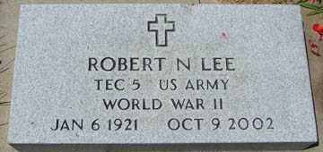 LEE, ROBERT N. (WWII) - Minnehaha County, South Dakota | ROBERT N. (WWII) LEE - South Dakota Gravestone Photos