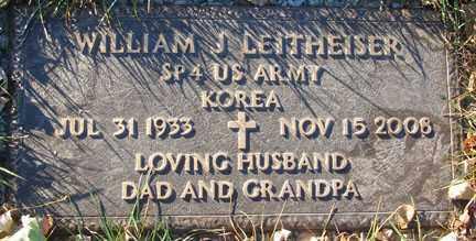 LEITHEISER, WILLIAM J. - Minnehaha County, South Dakota | WILLIAM J. LEITHEISER - South Dakota Gravestone Photos