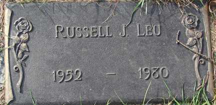 LEU, RUSSELL J. - Minnehaha County, South Dakota | RUSSELL J. LEU - South Dakota Gravestone Photos