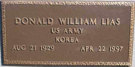LIAS, DONALD WILLIAM (KOREA) - Minnehaha County, South Dakota | DONALD WILLIAM (KOREA) LIAS - South Dakota Gravestone Photos