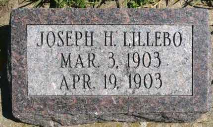 LILLEBO, JOSEPH H. - Minnehaha County, South Dakota   JOSEPH H. LILLEBO - South Dakota Gravestone Photos