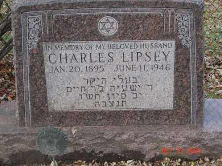LIPSEY, CHARLES - Minnehaha County, South Dakota | CHARLES LIPSEY - South Dakota Gravestone Photos
