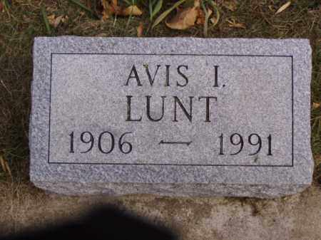 LUNT, AVIS I. - Minnehaha County, South Dakota | AVIS I. LUNT - South Dakota Gravestone Photos