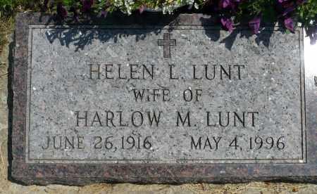 LUNT, HELEN L. - Minnehaha County, South Dakota | HELEN L. LUNT - South Dakota Gravestone Photos