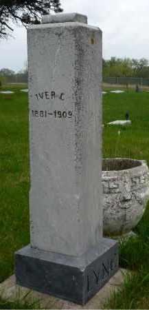 LYNG, IVER C. - Minnehaha County, South Dakota | IVER C. LYNG - South Dakota Gravestone Photos