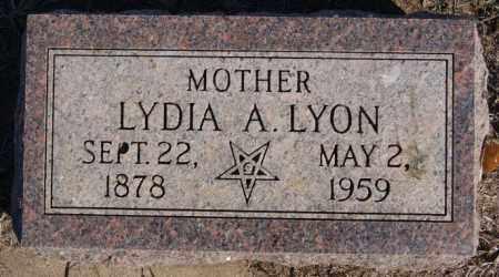 LYON, LYDIA A - Minnehaha County, South Dakota   LYDIA A LYON - South Dakota Gravestone Photos