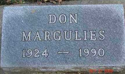 MARGULIES, DON - Minnehaha County, South Dakota | DON MARGULIES - South Dakota Gravestone Photos