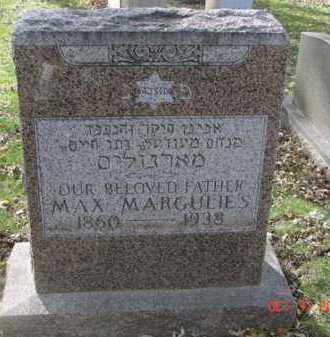 MARGULIES, MAX - Minnehaha County, South Dakota | MAX MARGULIES - South Dakota Gravestone Photos