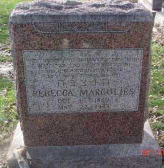 MARGULIES, REBECCA - Minnehaha County, South Dakota | REBECCA MARGULIES - South Dakota Gravestone Photos