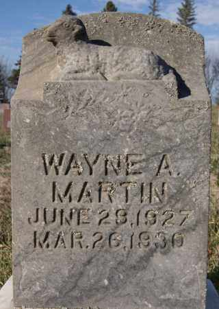 MARTIN, WAYNE A - Minnehaha County, South Dakota | WAYNE A MARTIN - South Dakota Gravestone Photos