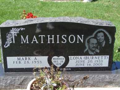 BURNETT MATHISON, LONA - Minnehaha County, South Dakota | LONA BURNETT MATHISON - South Dakota Gravestone Photos
