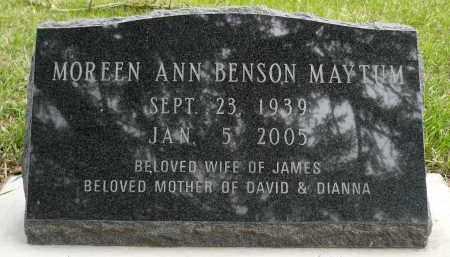 MAYTUM, MOREEN ANN BENSON - Minnehaha County, South Dakota   MOREEN ANN BENSON MAYTUM - South Dakota Gravestone Photos
