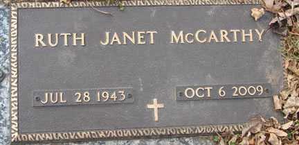 POLFLIET MCCARTHY, RUTH JANET - Minnehaha County, South Dakota | RUTH JANET POLFLIET MCCARTHY - South Dakota Gravestone Photos