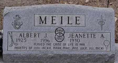 MEILE, JEANETTE A - Minnehaha County, South Dakota | JEANETTE A MEILE - South Dakota Gravestone Photos