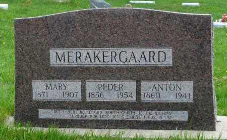 MERAKERGAARD, ANTON - Minnehaha County, South Dakota | ANTON MERAKERGAARD - South Dakota Gravestone Photos