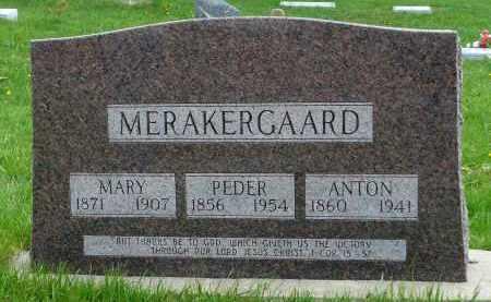 MERAKERGAARD, MARY - Minnehaha County, South Dakota | MARY MERAKERGAARD - South Dakota Gravestone Photos